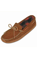 Minnetonka Men's Double Bottom Fleece Lined Slipper