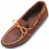 Minnetonka Men's Double Bottom Softsole Mocs - Brown Ruff