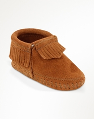 Minnetonka Moccasin Infant's Bootie Moccasin - Brown
