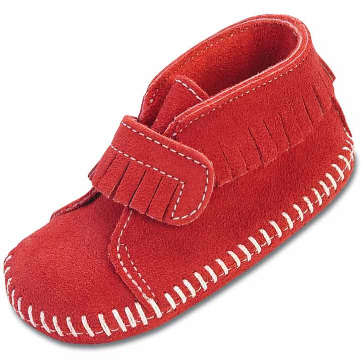 Minnetonka Moccasin - Infant Velcro Front Strap Bootie (3 Colors)