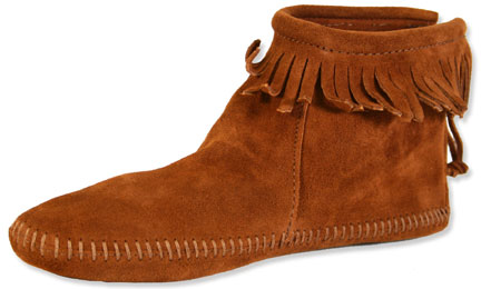 Minnetonka Moccasin - Woman's Back Zipper Ankle Hi Fringe Boots