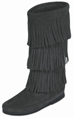 Minnetonka Women's Calf Hi 3-Layer Fringe Boots - 4 Colors