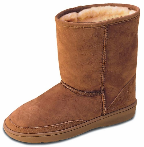 Minnetonka Women's Short Sheepskin Pug Boots - 2 Colors