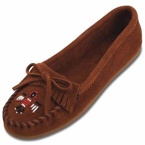 Minnetonka Women's Thunderbird ll Suede Leather Moccasins - 3 Colors