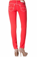 Miss Me Denim Brand Womens Colored Skinny Jeans - Bright Red