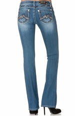 Miss Me Denim Brand Womens Mixed M Boot Cut Jeans - LT 55