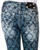Miss Me Girls All Over Fleur de Lis Print Cuffed Capri