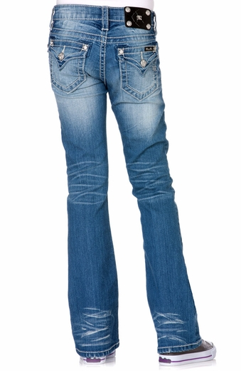 Miss Me Girls Boot Cut Jeans - MED 197 (Closeout)