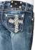 Miss Me Girls Floral Cross Boot Cut Jeans - MED146
