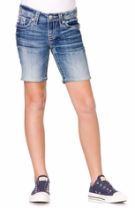 Miss Me Girls Mid Length Short - MED 187 (Closeout)