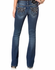 Miss Me Women's Boot Cut Jeans - Medium Wash