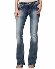 Miss Me Women's Boot Cut Jeans - MK436 (Closeout)