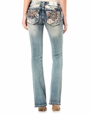 Miss Me Women's Low Rise Slim Fit Boot Cut Jeans - Light Wash