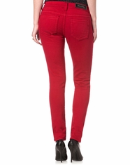 Miss Me Women's Mid Rise Skinny Jeans - Ruby Red