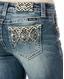 Miss Me Women's Mid Rise Slim Fit Boot Cut Jeans - Medium Wash