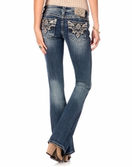 Miss Me Women's Sun-Kissed Phoenix Boot Cut Jeans - MED272 (Closeout)