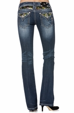 Miss Me Womens Bootcut Jeans - DK 256 (Closeout)