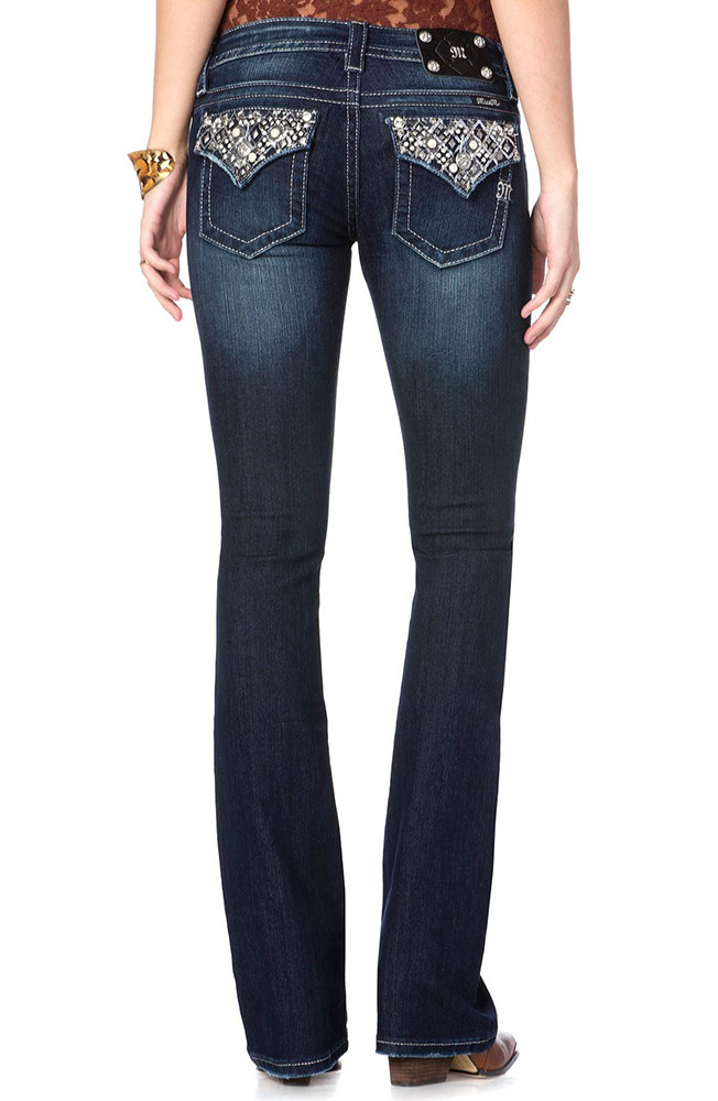 Miss Me Womens Bootcut Jeans - DK 291 (Closeout)