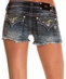 Miss Me Womens Camouflage Sequin Insert Shorts - MK 150B