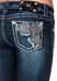 Miss Me Womens Daisy Boot Cut Jeans - MK217 (Closeout)