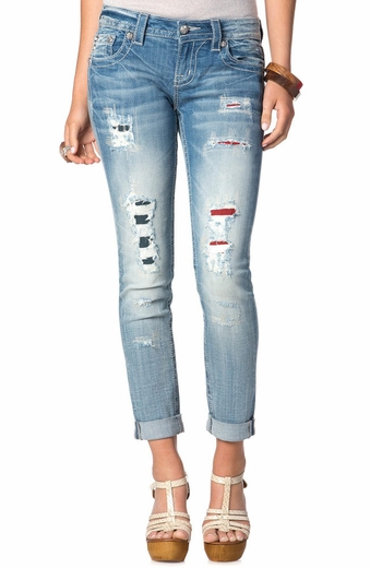 Miss Me Womens Americana Skinny Jeans - LT77 (Closeout)