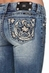 Miss Me Womens Puffy Horseshoe Relaxed Fit Bootcut Jeans - MED 176 (Closeout)