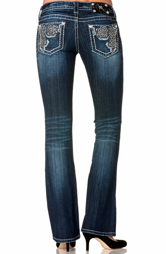 Miss Me Womens Daisy Boot Cut Jeans - MK217