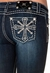 Miss Me Womens Snow Flake Cross Boot Cut Jeans - DK216