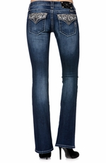 Miss Me Womens Paris Boot Cut Jeans - MK206 (Closeout)