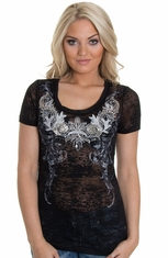 Miss Me Womens Top - Black