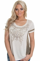Miss Me Womens Top - Cream (Closeout)