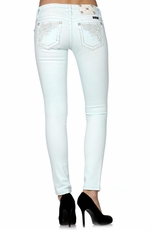 Miss Me Womens Winged Skinny Jeans - Seafoam