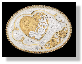 Montana Silversmiths A Heart of Gold Western Belt Buckle