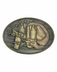 Montana Silversmiths Attitude Boots and Hat Buckle - Brass