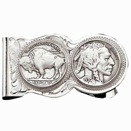 Montana Silversmiths Buffalo Indian Nickel Scalloped Money Clip