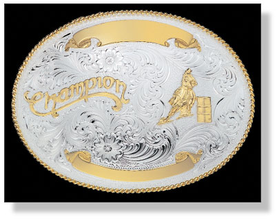 Montana Silversmiths 'Champion Barrel Racer' Belt Buckle
