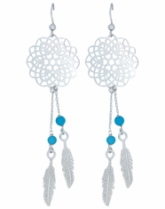 Montana Silversmiths Dream Catcher Earrings- Silver
