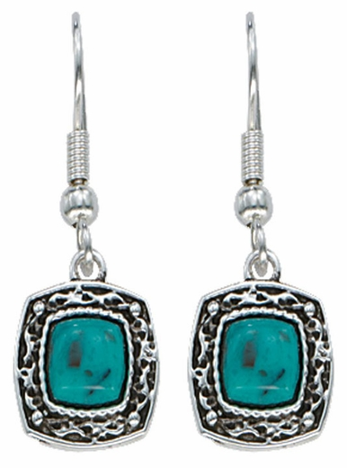 Montana Silversmiths Blue Earth Turquoise Earrings (Closeout)