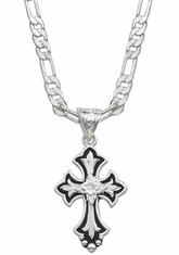 Montana Silversmiths Flower on Silver and Black Cross Fluery