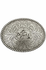 Montana Silversmiths Horse and Rider Antiqued Attitude Belt Buckle