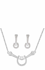 Montana Silversmiths Horse Shoe and Nails Jewlery Set