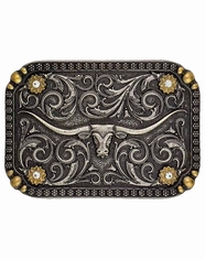 Montana Silversmiths Attitude Two Tone Longhorn Buckle