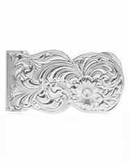 Montana Silversmiths Men's Silver Engraved Scalloped Money Clip