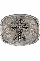Montana Silversmiths Antiqued Western Deco Cross Belt Buckle