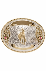 Montana Silversmiths Mens Saddle Bronc Engravable Trophy Belt Buckle