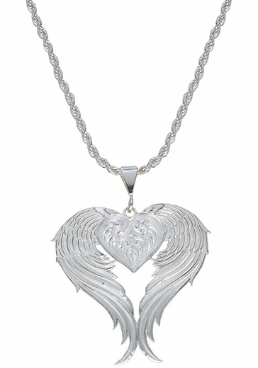 Montana Silversmiths Angel Heart Silver Necklace (Closeout)