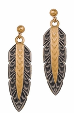 Montana Silversmiths New Classics Hawk Feather Dangle Earrings