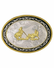 Montana Silversmiths Team Roper Belt Buckle