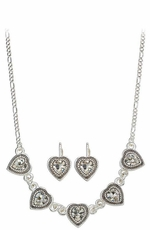 Montana Silversmiths Tiny Crystal Hearts Jewelry Set (Closeout)