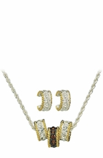 Montana Silversmiths Topaz Crystal Shine Triple Rings Jewelry Set (Closeout)